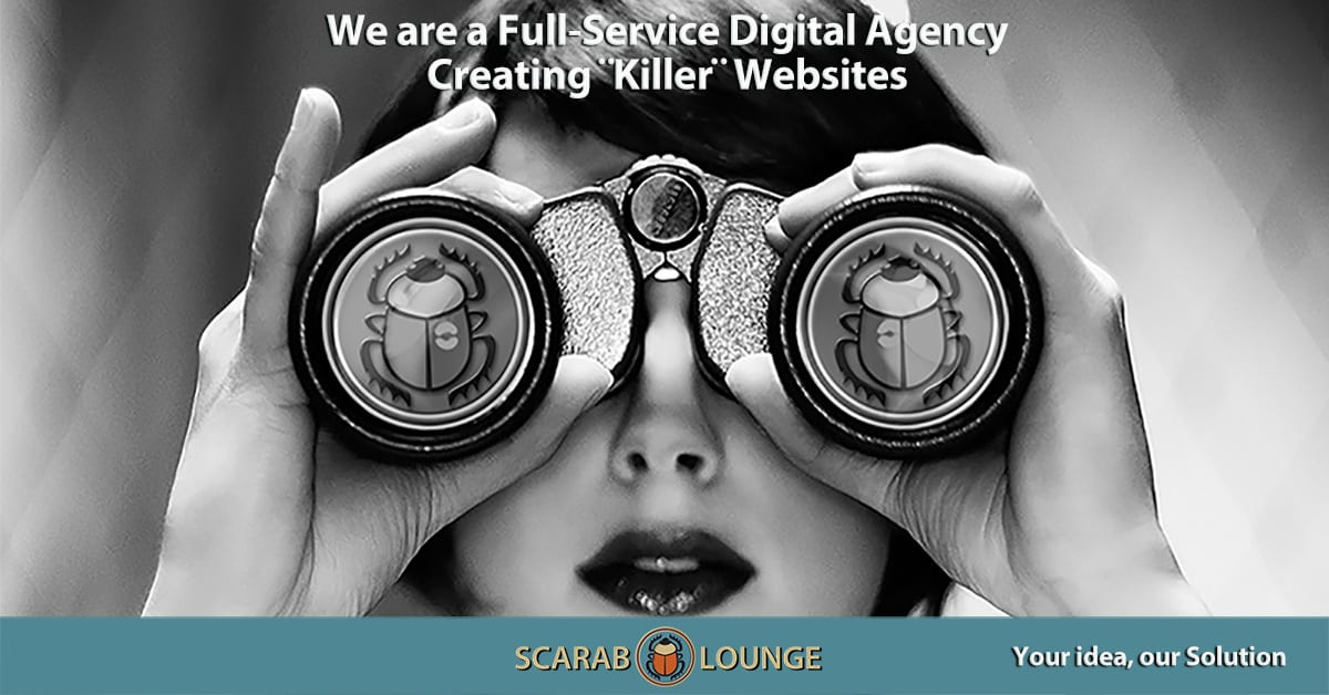 We are a Full-Service Digital Agency Creating ¨Killer¨ Websites. Scarab Lounge, full-service Digital Agency for National and International Websites, Marketing and Social Media