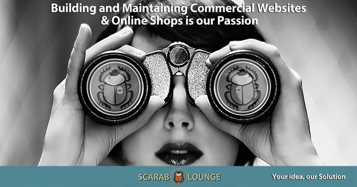 Building and Maintaining Commercial Websites, Online Shops, and Marketplaces is our Passion. Scarab Lounge, full-service Digital Agency for Websites, Marketing and Social Media