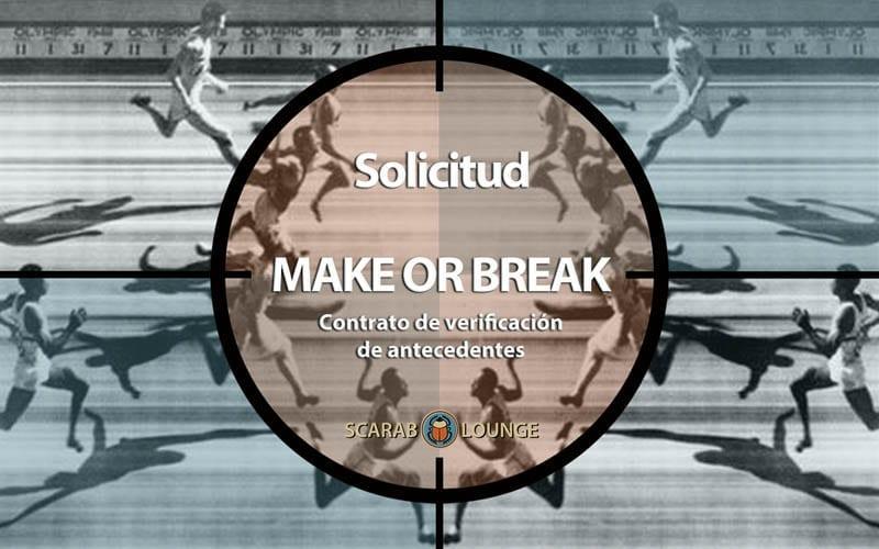 Solicitud Contrato de verificación de antecedentes 'Make or Break' Solicitud formulario. Antecedentes Verificación del Cliente. ¿Son lo que dicen ser? Más vale prevenir que lamentar